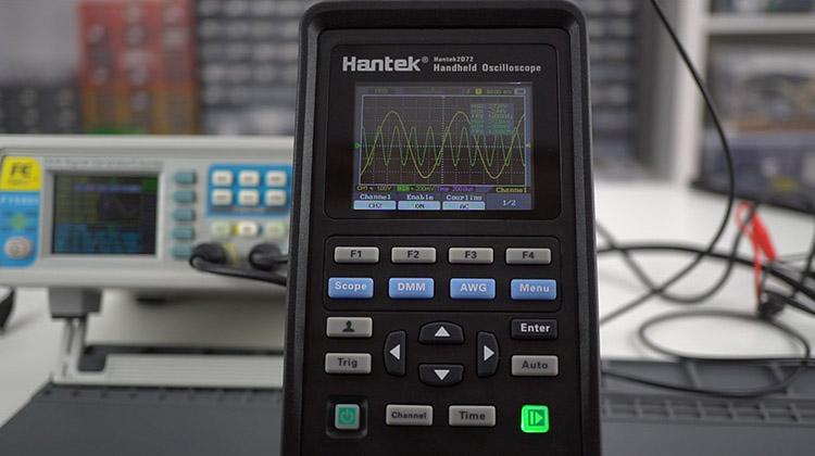 Hantek 3 in1 2d72 oscilloscope 2-channel