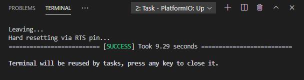 Upload filesystem image ESP8266 VS Code PlatformIO success message