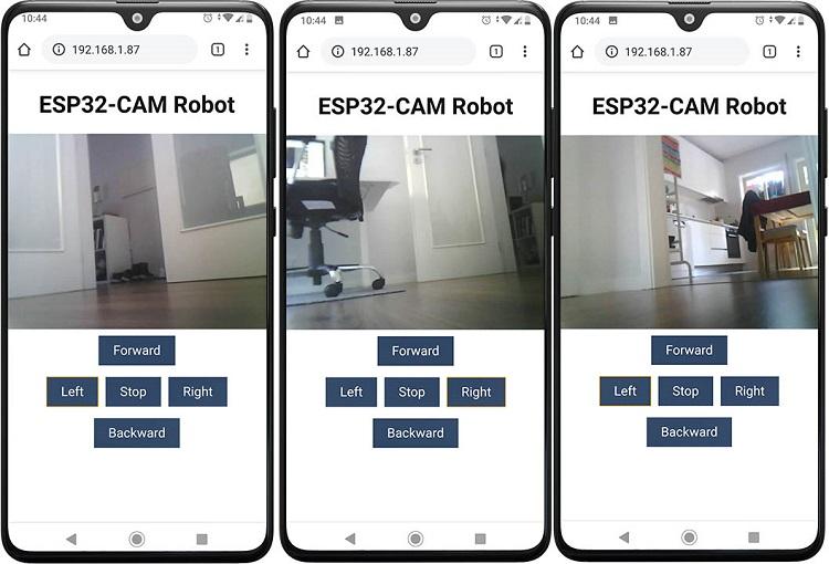 ESP32-CAM Remote Controlled Robot Web Server Demonstration