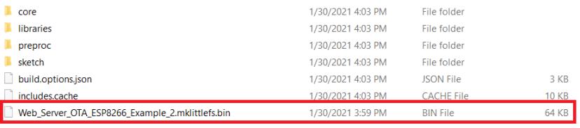 LittleFS Bin File ESP8266