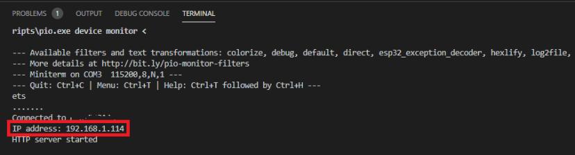 VS Code with PlatformIO Get Board IP Address