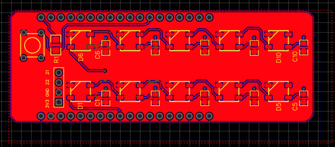 Easyeda ESP32 Neopixels PCB Shield