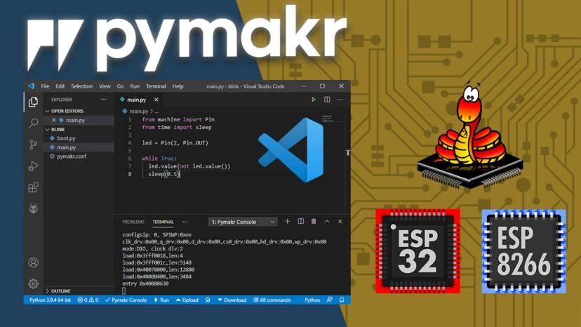 Program ESP32/ESP8266 Boards with MicroPython using VS Code and Pymakr