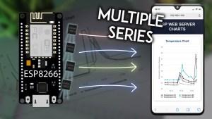 ESP8266 NodeMCU Plot Sensor Readings in Charts Multiple Series Arduino IDE