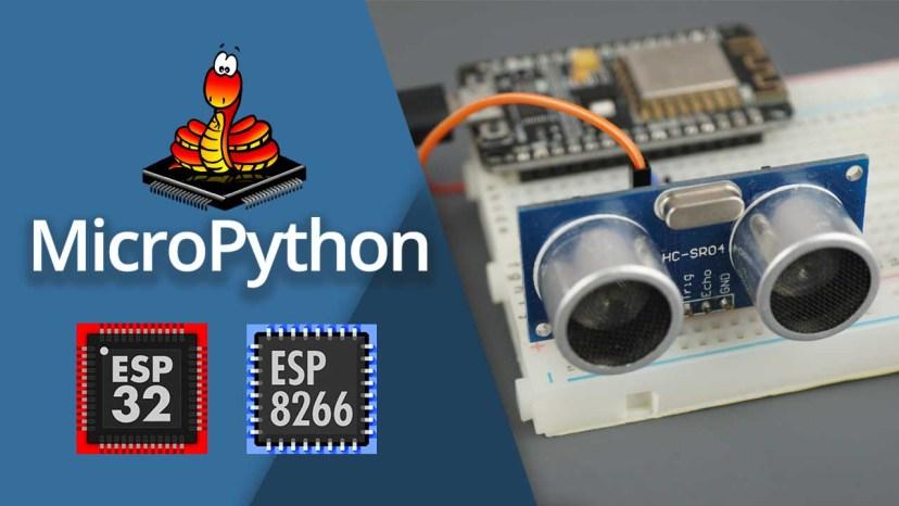 MicroPython HC-SR04 Ultrasonic Sensor with ESP32 ESP8266 NodeMCU Measure distance