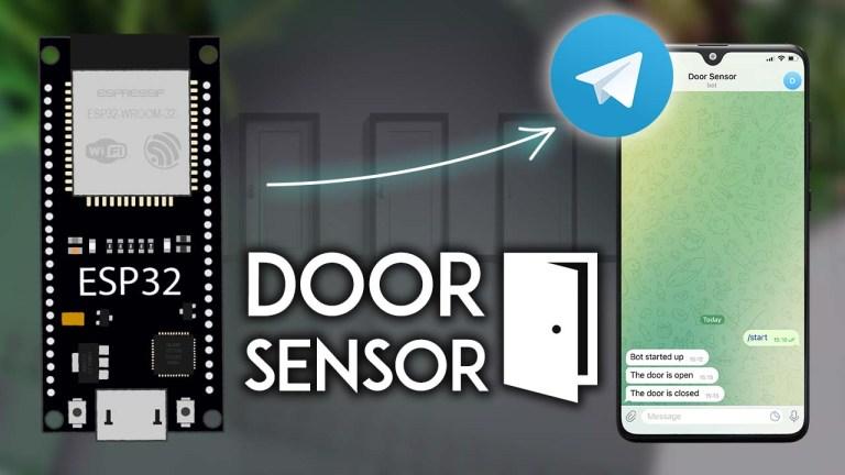 ESP32 Door Status Monitor with Telegram Notifications Arduino IDE