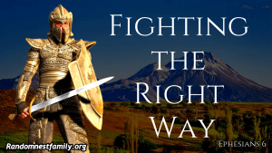 Remember to fight the right way! @randomnestfamily.org