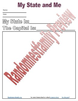 My State an me printable @randomnestfamily