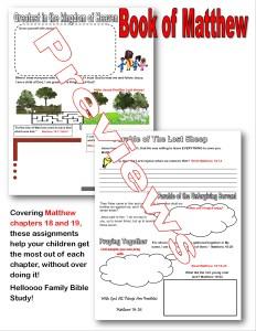 Gospel of Matthew assignment @randomnestfamily.org