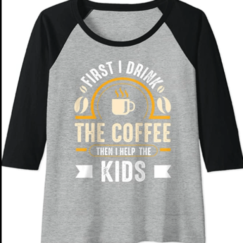 First I drink coffee than kids t shirt @randomnestfamily.org