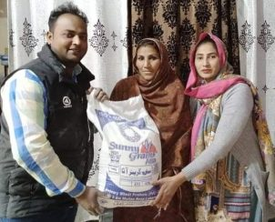 Donations buying food for Pakistan