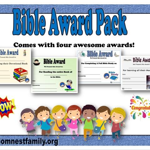 Bible Award set of four @Randomnestfamily