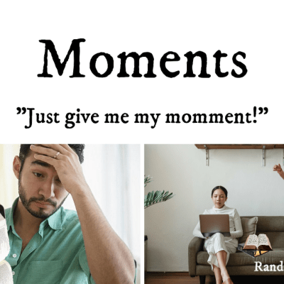 Parents needing a moment to Bible study @randomnestfamily.org