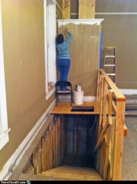 How to Paint Above a Stairwell - RandomOverload