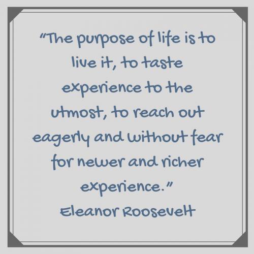 Eleanor Roosevelt quote on fear via randomstoryteller chamrickwriter