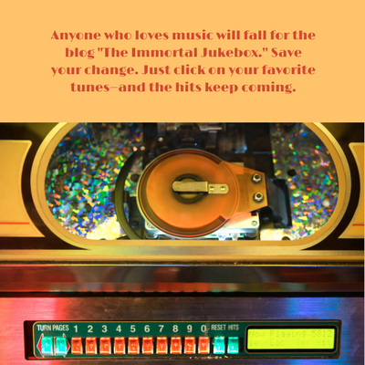 400x400 px -The Immortal Jukebox- blog by Thom Hickey is worth a listen, especially for baby boomers via randomstoryteller chamrickwriter with image of colorful old jukebox