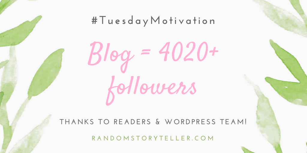 Thanks for good reads and kind followers!