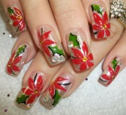 easy nail art design christmas