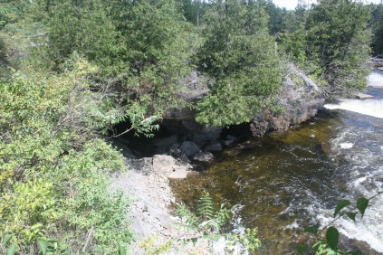 The entrance from the Bonnechere River.