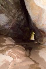 Inside the rock house