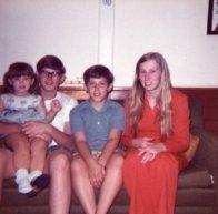 Wendy, Jack, Jeff & Diane. Aunt Irene's house, Oakland Park.