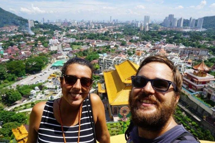 Vistas de George Town desde el templo Kek Lok Si. ¡Impresionante!