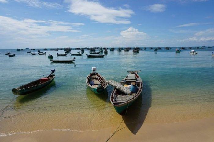 Barquitas en la isla de Phu Quoc