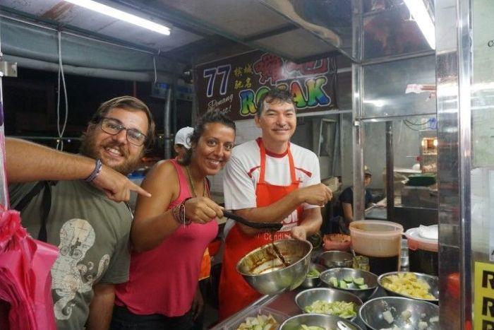 Preparando Rojak en Penang