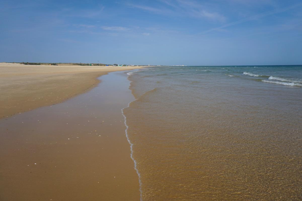 La extensa playa de Cacelha Velha