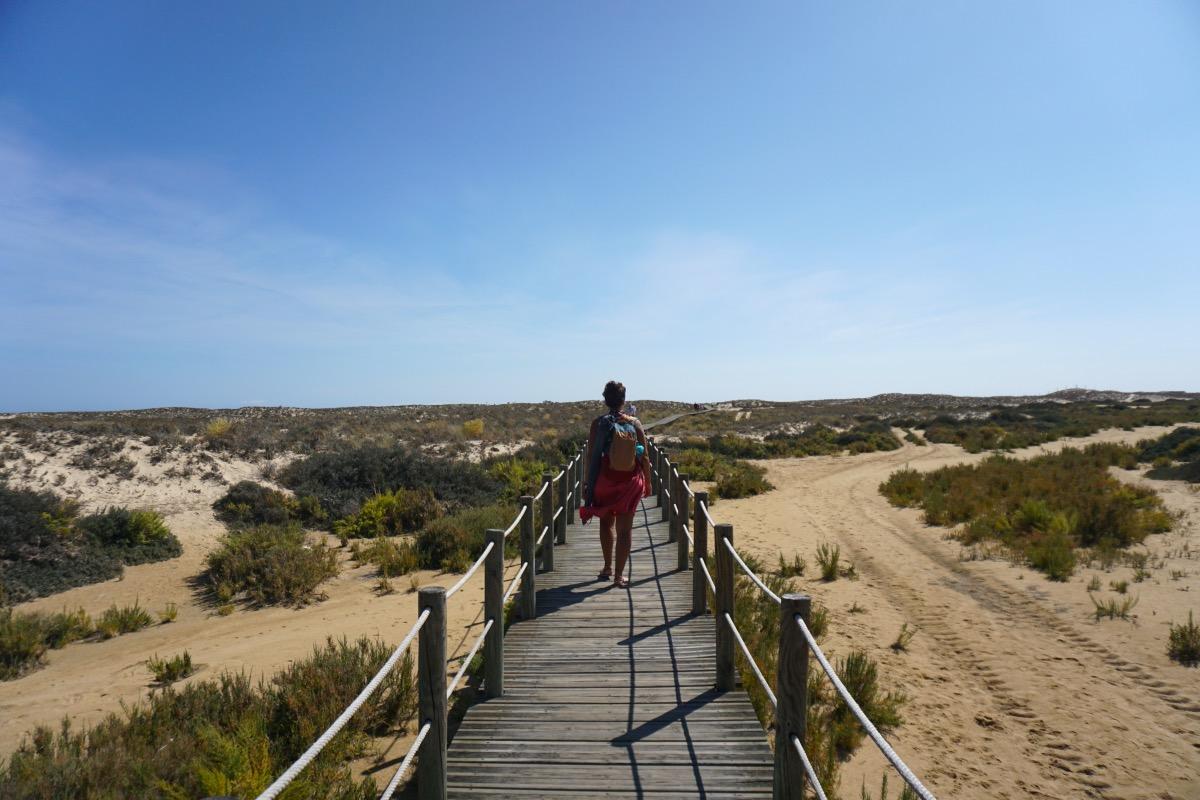 Llegando a la playa de Culatra