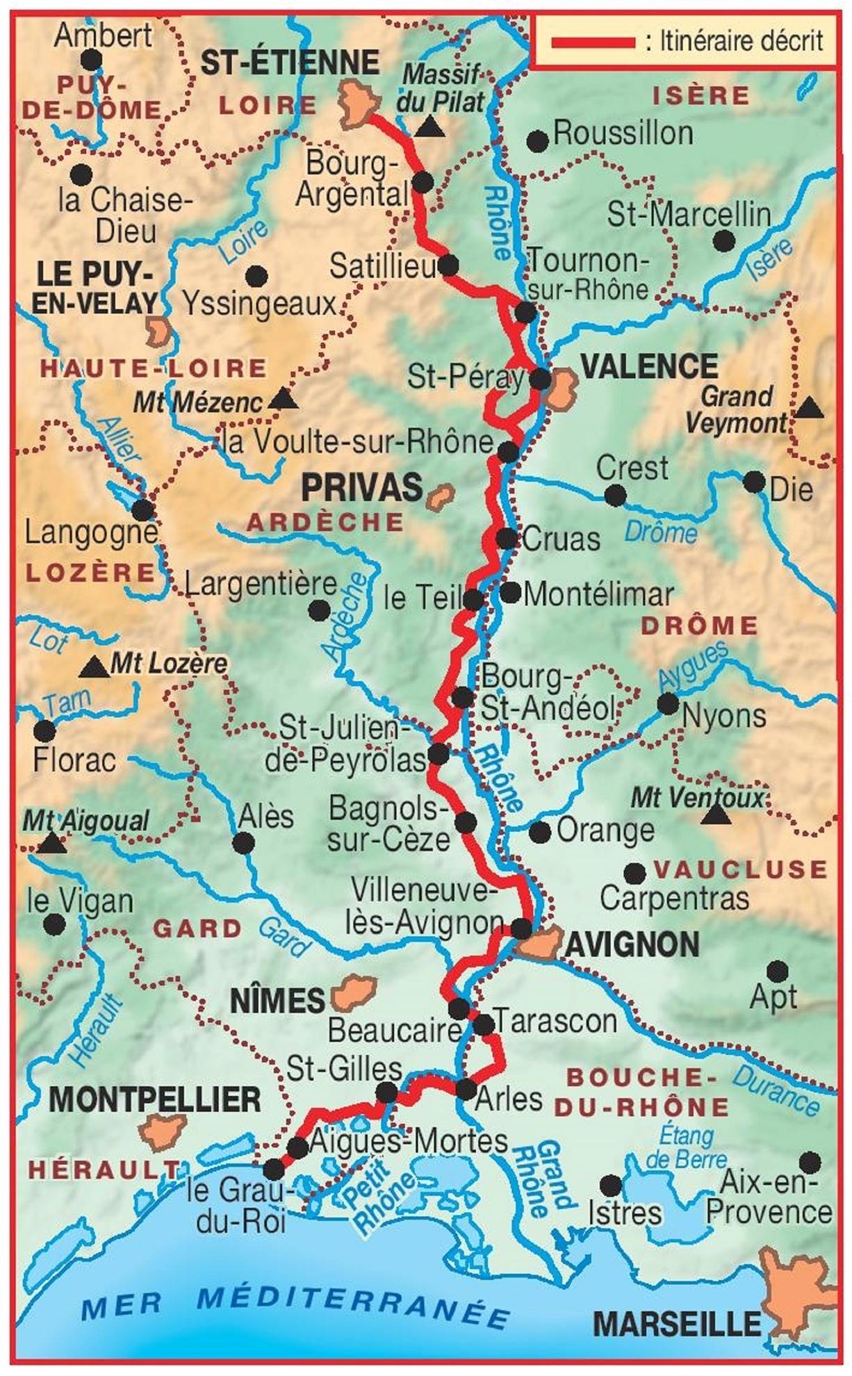 Carte Des Sentiers Du Pilat : carte, sentiers, pilat, Pilat, Méditerranée, Balcons, Rhône, Randonnée, Occitanie,, Pyrénées