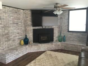 White wash fireplace Huntersville