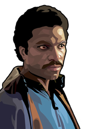 Lando Calrissian Foil-For Topps Star Wars Galaxy 5 My Star wars Art was featured in a 15 card FOIL subset. These were considered chase cards. Each card was printed on Bronze, Silver, Gold and Prismatic Foil.