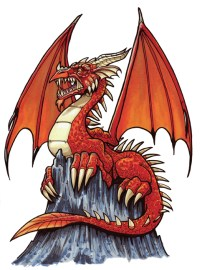 Dragon from tutorial in Creature Features Marker on bristol 9 X 12