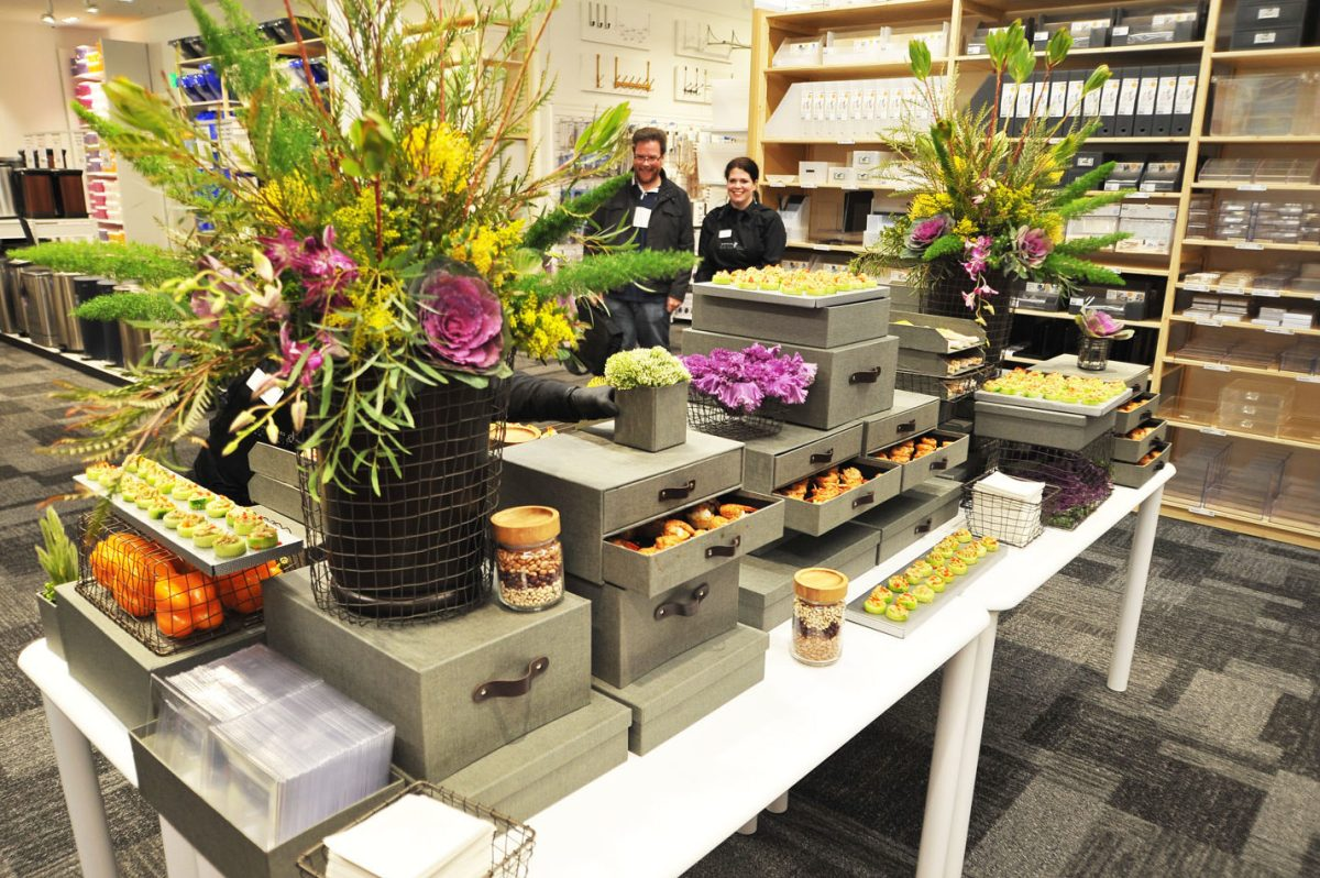 Image: Container Store Grand Opening. Book your corporate catering Sacramento's best catering.