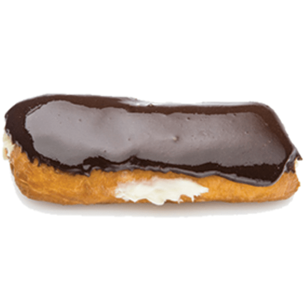 Randy's Chocolate Long John Donut w/ Cream