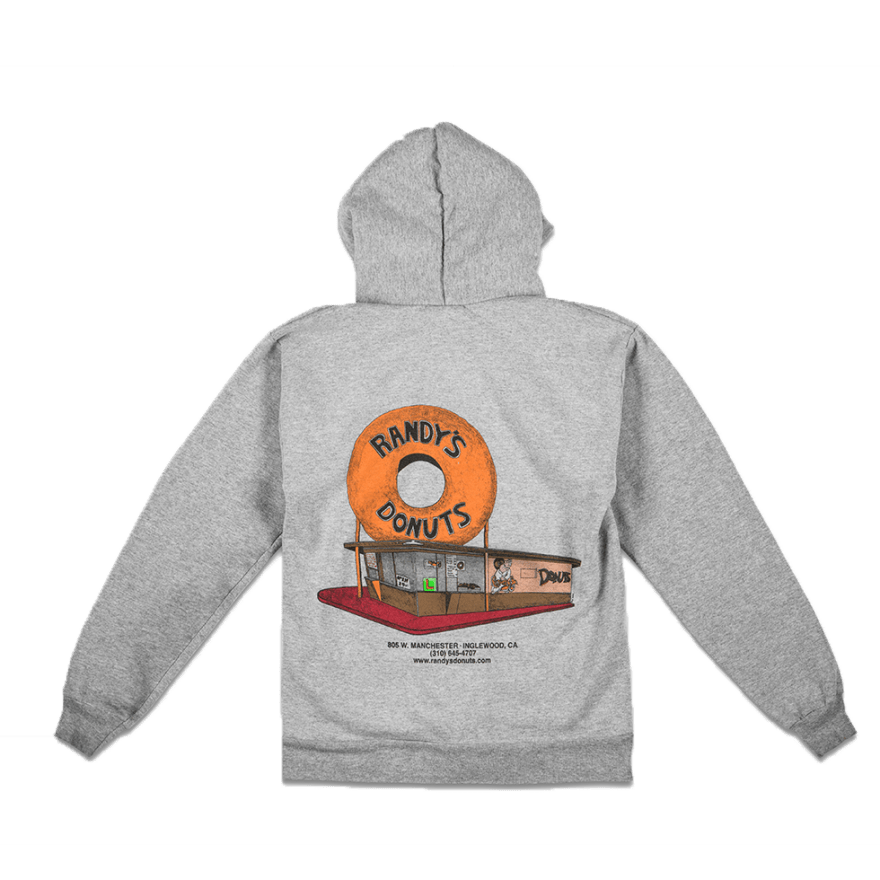 Randy's Gray Zip-Up Hoodie Sweatshirt