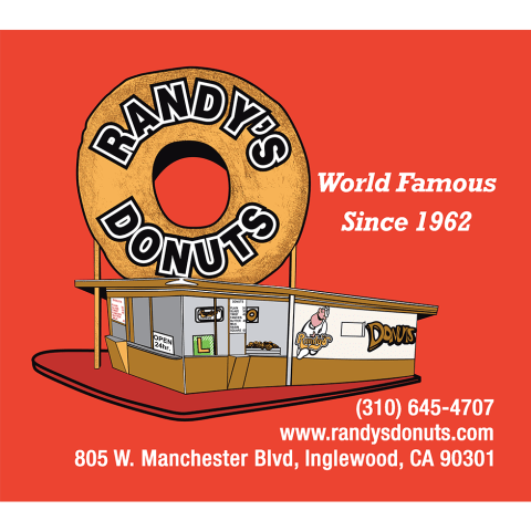 Randy's Donuts Red Bumper Sticker