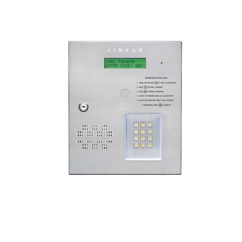 Linear Telephone Entry System Apartment Access Control Pushbutton Intercom