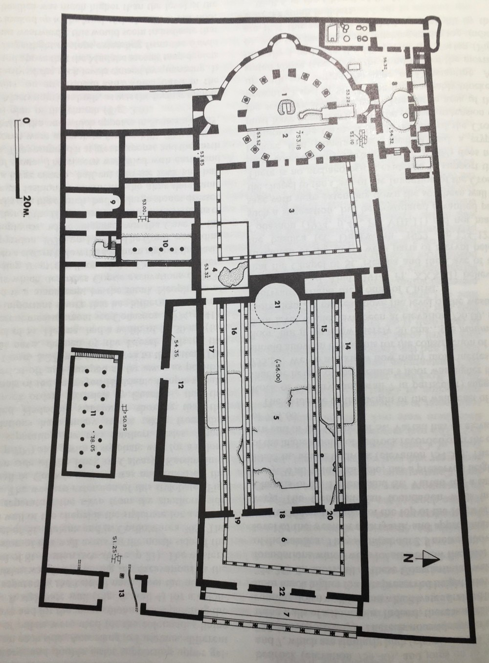medium resolution of reconstructed plan of constantinian basilica at holy sepulcher after gibson and taylor 1994 p 75