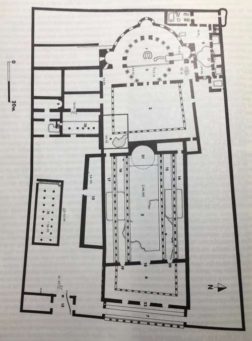 small resolution of reconstructed plan of constantinian basilica at holy sepulcher after gibson and taylor 1994 p 75
