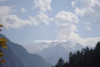 Himalayas in the Tirthan Valley of Kullu