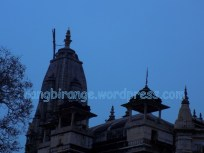 Grand Meera Bai Temple stands against darkening firmament
