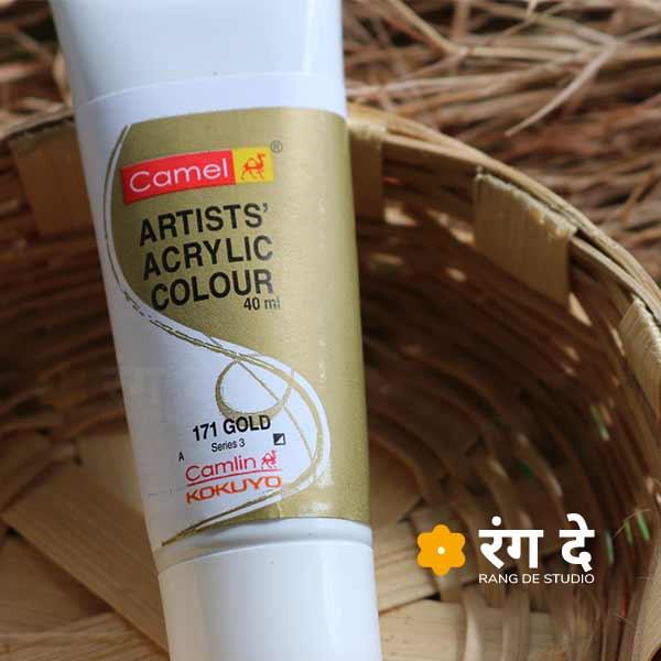 Buy Gold Artists Acrylic Colours CamlinCamlin Online from Rang De Studio