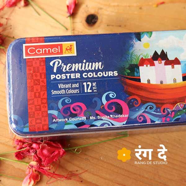 Buy Camlin Premium Poster Colours online from Rang De Studio Today