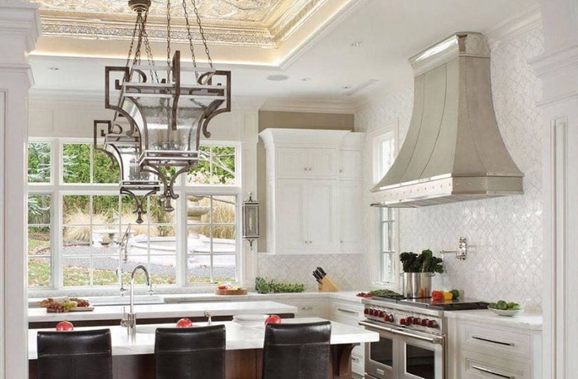 range hood in a beautiful kitchen