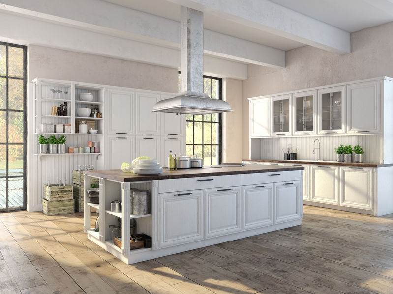 Luxurious kitchen with stainless steel appliances
