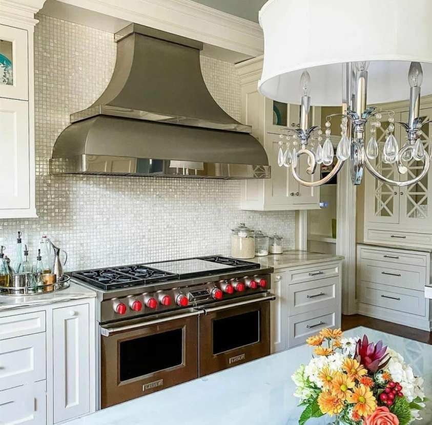 beautiful range hood in a modern kitchen