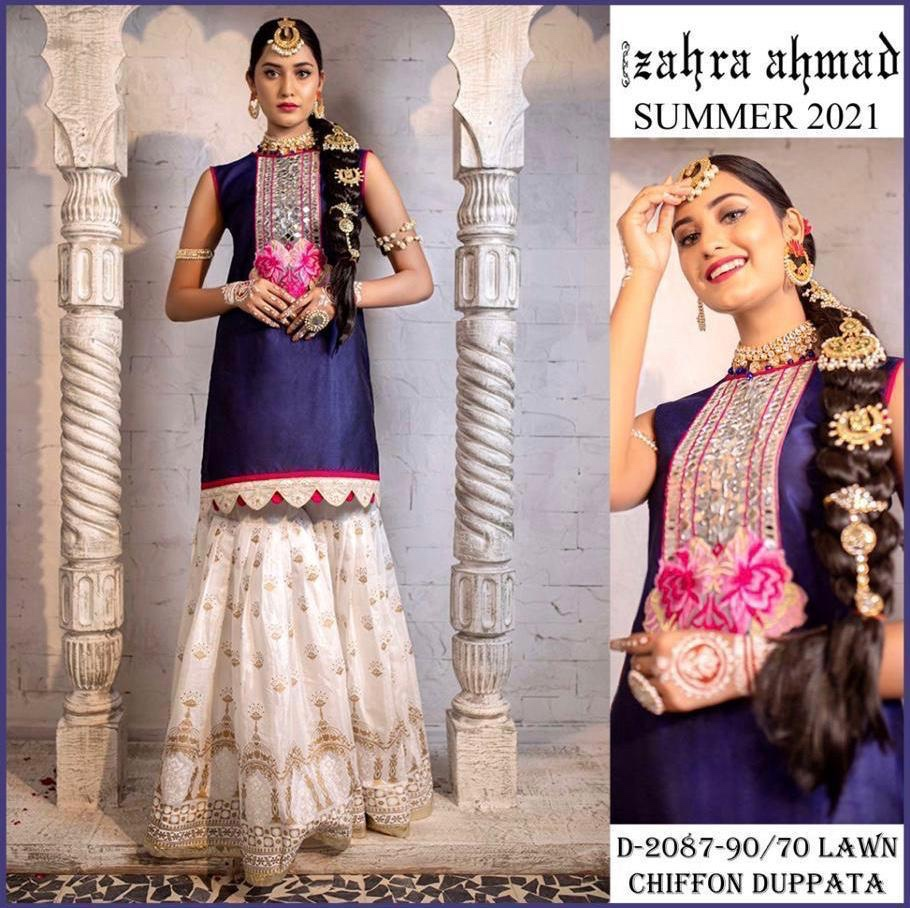 zahra ahmed designer dress