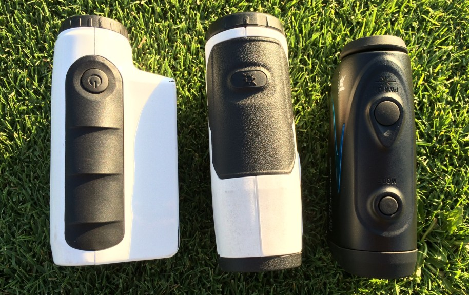 3 Golf Rangefinders from field test